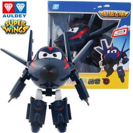 Light figure online shopping - AULDEY Super Wings Designs Robots Transformation Airplane Action Figures cm Big Animation Kids Designer Brand Desformation Presents