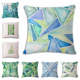 $enCountryForm.capitalKeyWord Australia - Watercolor Green Leaf Hand Cotton Flax Pillow Back Cushion