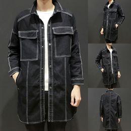 $enCountryForm.capitalKeyWord Australia - men coat Men's Autumn New Fashion Trend Pure Colour Coat Denim Jacket Top manteau hommes dropshipping