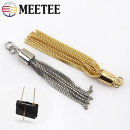 metal hooks for handbags Australia - Meetee Metal Tassel Hang Buckle For Handbag Keychain Ring Tassel Stopper Pendant Hook DIY Bag Hardware Accessories