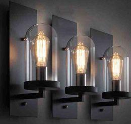 Diy Lamps Industrial UK - Hall Nice Industrial Wall Lamp Light Glass DIY Lighting Home Cafe Art indoor lighting wall lamps