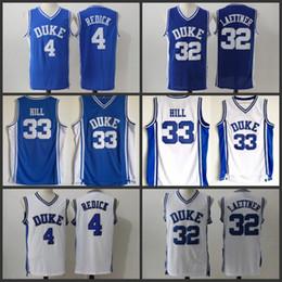 461a66269705 NCAA Men Duke Blue Devils Jersey 33 Grant Hill 4 JJ Redick 32 Christian  Laettner Blue White All Stitched Cheap College Basketball Jerseys
