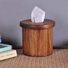 $enCountryForm.capitalKeyWord Australia - Thailand imported home handmade wood roll paper tube wood tissue box living room roll paper box LO920507