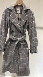 plaid jackets for women Canada - Designer Women's Suit Fashion Plaid Coat Long Thick Autumn New Winter Brand Jacket for Lady Fashion Plaid Women Luxury Clothing High Quality