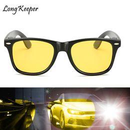 Safety Vision Australia - Long Keeper Mens Yellow Night Vision Sun Glasses Women Polarized High Quality HD Lens Night Driving Safety Eyewears UV400 KP1029