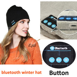 wholesale musical speaker NZ - HD Bluetooth Winter Hat Stereo Bluetooth 4.2 Wireless Smart Beanie Headset Musical Knit Headphone Speaker Hat Speakerphone Cap 180mA