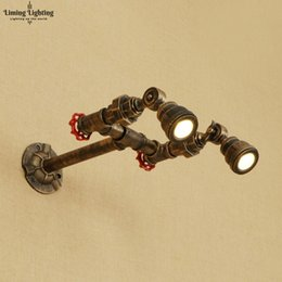 Vintage Water Pipes Australia - Retro Iron Water Pipe Wall Lamp Vintage Spot Light LED RH American Industrial Wall Sconce Bedroom Living Room Bathroom Path Cafe