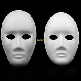 $enCountryForm.capitalKeyWord Australia - 400pcsHalloween Full Face Masks for Adults DIY Hand-Painted Pulp Plaster Covered Paper Mache Blank Mask Wholesale Men Women Plain Party Mask
