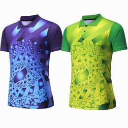 Polo Sportswear Australia - Men Sportswear badminton shirts Jerseys Volleyball Golf table tennis t-shirt sports clothes POLO T Shirts Quick Dry breathable