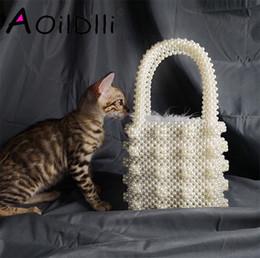 $enCountryForm.capitalKeyWord Australia - Handmade Pearl Lady Tote Luxury Handbags Small Box Evening Bag Fashion Vintage Female Top-handle Purse Chic Ins Box Bag Brand Y19052801