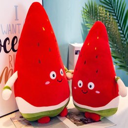 Wholesale Watermelon Plush Plant Toys Cute Stuffed Doll Cushion Pillow Toy for Boys Girls Cartoon Simulation Fruit Doll Toy Creative Gifts