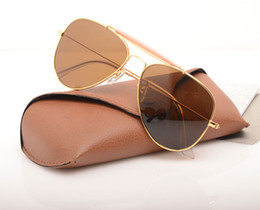 mens wholesale glasses Australia - 10PCS New shooter glasses Glass Lens Mens Sun glasses pilot Brand Designer Womans Sunglasses UV protection Sun glasses with Original cases