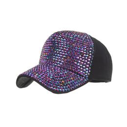 Black Diamond Caps UK - JAYCOSIN 1PCS 2019 Hats Fashion Summer Womens Mans Full Diamond Baseball Cap Adjustable Casual High Quality Hat Dropship Apr8