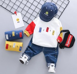 Guard clothinG online shopping - 2019 Children s Clothing Korean Chaofan Digital Coloured Round neck Guard Comfortable Fabric Children s Spring Clothing