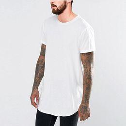 $enCountryForm.capitalKeyWord NZ - 19SS Summer New T shirt Men Black White Long Tees Short Sleeved Curved Longline Tees
