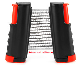 $enCountryForm.capitalKeyWord Australia - Wholesale-Table Tennis Nets Posts Newest Retractable Table Tennis Ping Pong Games Portable Net Kit Replacement Black Top Quality 1BZ