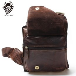 $enCountryForm.capitalKeyWord Australia - New High Quality Vintage Casual Crazy Horse Leather Genuine Cowhide Men Chest Bag Small Messenger Bags For Man Shoulder Bags Y19061803
