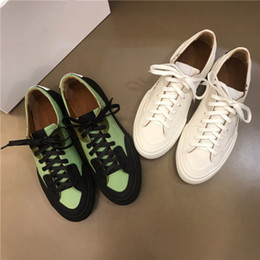 $enCountryForm.capitalKeyWord Australia - The Latest men casual sports shoes,Flower White leather Rubber flat running and hiking shoes,With boxs Size 38-44