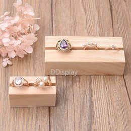 $enCountryForm.capitalKeyWord Australia - [DDisplay]Nature Wooden Rings Display Muji Style Bracelet Stand Solid Wood Card Slot Price Tag Display Earring Studs Jewelry Stand