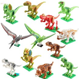 Kids Block Games Australia - Jurassic Period Dinosaur DIY Blocks Bricks Puzzle Emulation Dinosaur Models For Kids Adults Novelty Game Toys Halloween Gifts