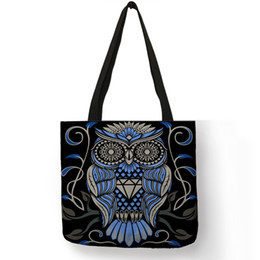 Cell Phone Images Australia - Fashion Design Bolsos Mujer Tote Bags For Women 2019 Blue Red Skull Image Handbag Eco Linen Practical Shop Office Shoulder Bag
