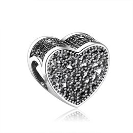 9b634cbe3 New Filled with Romance Charms Beads Authentic 925 Sterling-Silver-Jewelry  Openwork Heart Bead DIY Valentine's Day Charm Bracelets