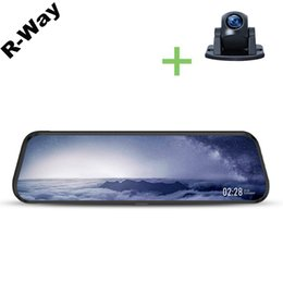 Car blaCk box hd online shopping - R Way Dash Cam for Car D IPS Curved Mirror Auto DVR Recorder with Degree Rearview Camera P HD Video Rec Black Box
