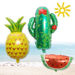 $enCountryForm.capitalKeyWord NZ - Cute Fruit Aluminum Foil Balloon tropical cactus Pineapple watermelon foil balloon wedding anniversary Birthday party decoration
