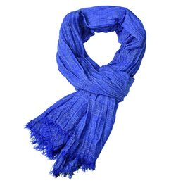 $enCountryForm.capitalKeyWord Australia - 30 piece per pack Wish top selling men's solid color cotton scarf high quality popular scarf shawl in good price