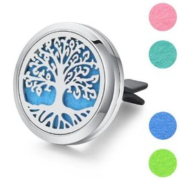 $enCountryForm.capitalKeyWord Australia - 30mm 7 Models Stainless Steel Car Air Freshener Perfume Essential Oil Diffuser Necklace Locket Home Essential Friendship Gifts 2019 New Sale