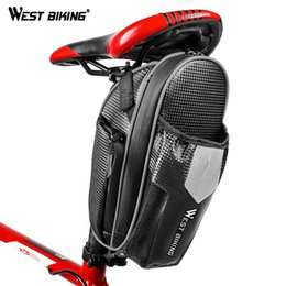 Accessories Water Bag NZ - WEST BIKING Bicycle Saddle Bag with Water Bottle Pocket Waterproof MTB Bike Rear Bag Bike Accessories Cycling Rear Seat Tail #79442