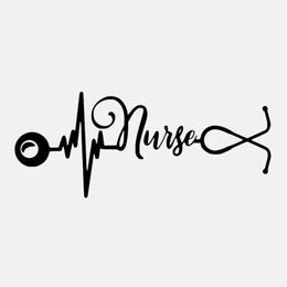 $enCountryForm.capitalKeyWord Australia - 16.8CM*7CM Love Nurse Heartbeat Lifeline Vinyl Car Window Fashion Personality Creativity Car Sticker