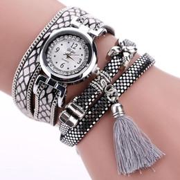 $enCountryForm.capitalKeyWord Australia - Duoya Watch Women Bracelet Ladies Watch With Rhinestones Clock Womens Vintage Women Leather Strap Tassel Bracelet Watches