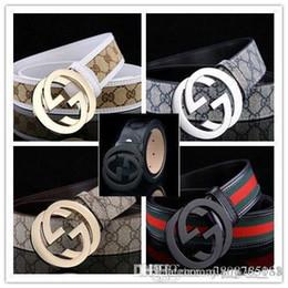 M Genuine Leather Australia - men and women M buckle brand Belts High Quality Designer Luxury Belt For Men And Women Genuine Leather Belt Gold Silver Buckle...