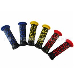 scooter rubbers NZ - Colorful Rubber Motorbike Handle Bar Grip Scooter Handlebar Grips Skull Motorcycle Handle Grip Universal Motorcycle Accessories