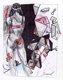 $enCountryForm.capitalKeyWord Australia - Samarel Abstract Art Nude Girl,Oil Painting Reproduction High Quality Giclee Print on Canvas Modern Home Art Decor W1086
