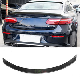 Discount coupe car - Glossy Carbon Fiber Car Rear Spoiler Auto Trunk Wings Lip For Benz C-class W205 Spoiler C200 C250 C300 Coupe 2-door 2017