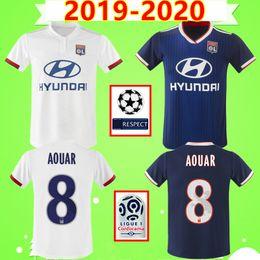 NEW 2019 2020 DEMBELE MEMPHIS AOUAR FEKIR MENDY Maillot de foot Olympique Lyonnais lyon soccer jersey Lyon football shirt OL 19 20 TERRIER CORNET NDOMBELE DUBOIS MENDY DENAYER en Solde