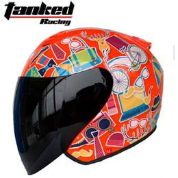 $enCountryForm.capitalKeyWord Australia - 2019 New Knight protection Tanked Racing Half Face Motorcycle Helmet Four seasons universal ABS Motorbike Helmets PC Lens Visor