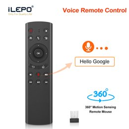 air mouse microphone Canada - G20S Voice Remote Control 2.4GHz Wireless Mini Keyboard G20 Fly Air Mouse Microphone Gyro for TV Box H96 MAX X2 X96 MINI