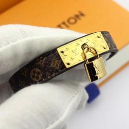 Fashion Bracelets Flower Design Australia - New style genuine leather bracelets with gold Lock accessories design for women top quality luxury flower pattern bracelet fashion jewelry
