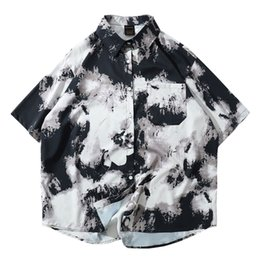Wholesale slim fit high collar shirts resale online – Casual Male Hawaiian Shirts High Quality Men s Summer Print Turn Down Collar Slim Fit Short Sleeve Top Shirt Blouse M XL