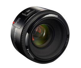 YONGNUO objectif f1.8 YN50mm YN EC 50 mm YN50 Ouverture AF pour Canon EOS 60D 70D 5D2 5D3 600D Caméra libre en Solde