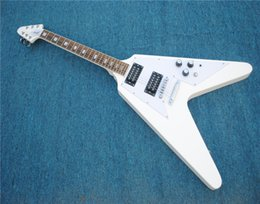 $enCountryForm.capitalKeyWord Australia - Free ShippingCustom Jack Son RR Flying V White Electric Guitar Active Pickups 9V Battery Triangle MOP Fingerboard Inlay Floyd Rose Tremolo B