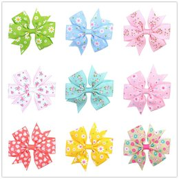 $enCountryForm.capitalKeyWord NZ - Baby Bow Hairpins Swallowtail Barrettes Hair Grips Girls Sunflower Lovely Daisy Hair Clips Dots Bobby Pin Kids Hair Accessories Gifts C82002