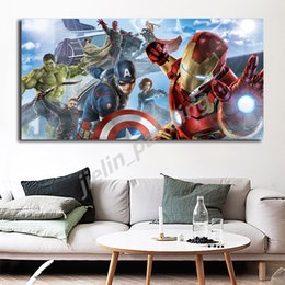 marvel room decor NZ - The Avengers Painting Marvel Superheroes Iron Man Posters And Prints Decorative Wall Art Pictures For Living Room Home Decor