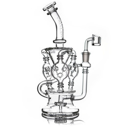 Klein recycler oil rigs online shopping - 2019 Klein Recycler Tornado Percolator Glass Bong Wax Pipe Bongs Water Pipes Oil Dab Rigs With Heady Quartz Banger Or Herb Bowl dabber nail