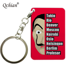 $enCountryForm.capitalKeyWord Australia - House of Paper La Casa De Papel TV Series Exquisite Picture Printing Series Keychain Color Stainless Steel Decorative Pendant