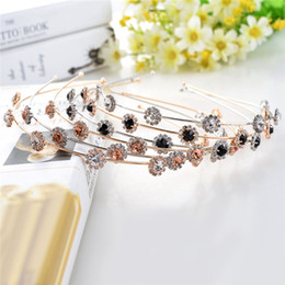 $enCountryForm.capitalKeyWord Australia - accessories 1 PC Fashion Crystal Rhinestone Pearl Headwear Ladies Girls Colorful Flower Headband Head Piece Band Hair Accessories