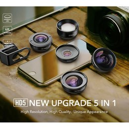 Full hd mobile phones online shopping - 2019 APEXEL in HD5 Set Wide Angle Macro Fisheye Increase HD Mobile Phone Lens